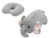 Cestovní poštářek Comfortline 2v1 (přetažením polštářku vznikne figurka slona)