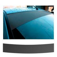 Samolepící sluneční clona na čelní okno Carbon-look (rozměr 150x24cm)