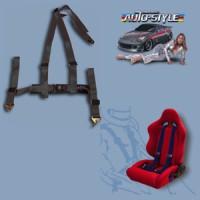 Sportovní pásy 3bodové UNI černé -kus