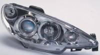 Přední světla (lampy) Peugeot 206 --rok výroby 99-02 ** s ANGEL EYES