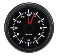 AUTOSTYLE Classic analogové hodiny, montážní průměr 52 mm -- bílé osvětlení čísel