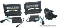 LED světlomety pro denní svícení - montážní sada do nárazníku Škoda Octavia II -- rok výroby 2004-08 (homologované)