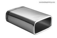 ULTER koncovka výfuku UNI - jednoduchá neladěná obdelníková 130x65mm délka 200mm