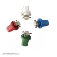 Mini LED žárovka do palubní desky s paticí B8,5 bílá/3SMD
