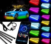 Exterierové LED neony MULTICOLOR 2x90 + 2x120cm - pro iOS, Android