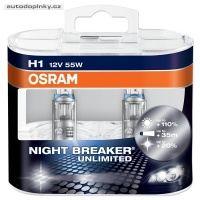 Žárovka OSRAM NIGHT BREAKER UNLIMITED H1 12V 55W - pár