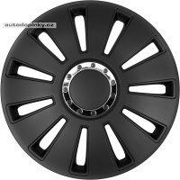 """Poklice na kola 17""""model Silverst PRO (barva černá/chromový kroužek) - 4 kusy"""