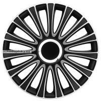 """Poklice na kola 17"""" model LeMans (barva černé/stříbrné) - 4 kusy"""