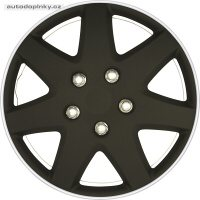 """Poklice na kola 14"""" model Michigan (barva černá/stříbrný ráfek) - 4 kusy"""