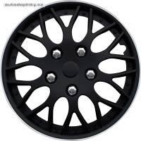 """Poklice na kola 14"""" model Missouri (barva černá/stříbrný ráfek) - 4 kusy"""