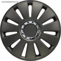 """Poklice na kola 17"""" model Silverstone (barva Gun Metal/chromový kroužek) - 4 kusy"""