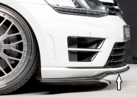 Rieger spoiler pod originální přední nárazník VW Golf VII / Golf VII R, před faceliftem, 3/5dv. -- rok výroby 10/2012 - 12/2016