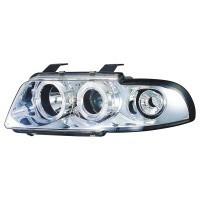 Přední světla (lampy) chrom s ANGEL EYES včetně blinkrů Audi A4 -- rok výroby 95-98