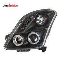 Přední světla (lampy) černé s Angel Eyes Suzuki Swift -- od roku výroby 2005-