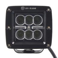 LED světlo 10-30V, 6x3W, R10, rozptýlený paprsek, 82x75x72mm