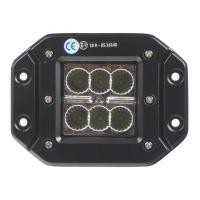 LED světlo 10-30V, 6x3W, R10, rozptýlený paprsek, 122x91x68mm