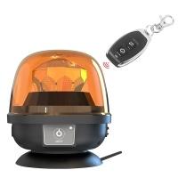 AKU LED maják, oranžový, dálkové ovládání, magnet, ECE R10, R65