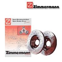 Zimmermann přední sportovní brzdové kotouče -vzduchem chlazené Volvo XC70 II, 2.4 D5 AWD - výkon 136 kW -- od roku výroby 08/2007-